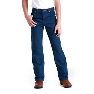 13MWZBP Wrangler Boys Original Fit Jeans 8-18 Prewashed Indigo NEW