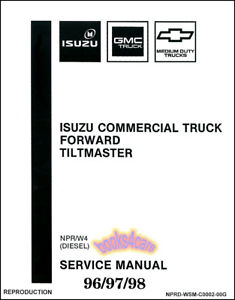 shop manual npr service repair w4 diesel book forward tiltmaster rh ebay com Isuzu NPR Muffler Isuzu NPR Fuel Filter