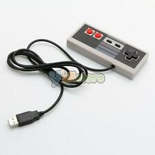 USB Gaming Controller For Nintendo NES 8 Bit System Console Black&Gray