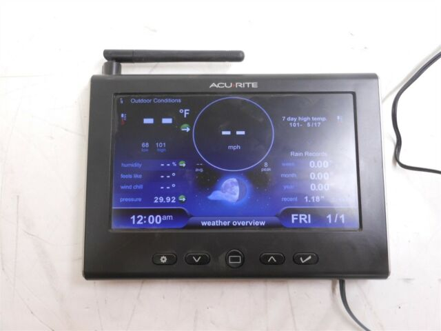 Acurite 06058M Weather Station Display Power Tested ONLY AS-IS for Parts