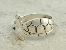 CUTE .925 STERLING SILVER DETAILED TURTLE RING size 8.5  style# r1412