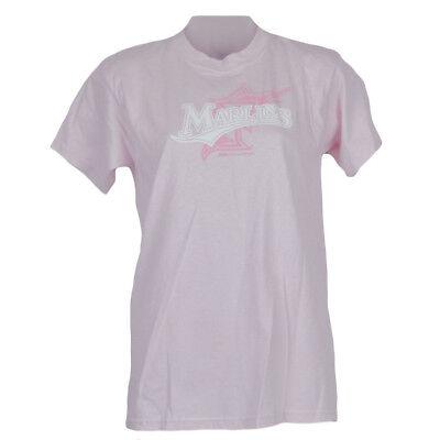 Mlb Stitches Youth Girls Juniors Florida Miami Marlins Tshirt Shirt Tee Large Lg Team Sports