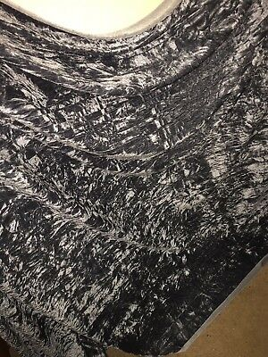 """5 MTR QUALITY SILVER GREY CHIFFON FABRIC...45/"""" WIDE £12.49 SPECIAL OFFER"""