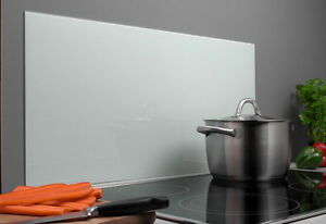 Details zu Spritzschutz Glas 40 x 80 cm weiß Glasrückwand Küche Herd Wand  Ceran Metallrückw