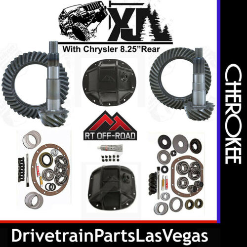 Jeep Cherokee XJ Re Gear Set Package Ring Pinion Master Kit HD Covers 4.56 8.25