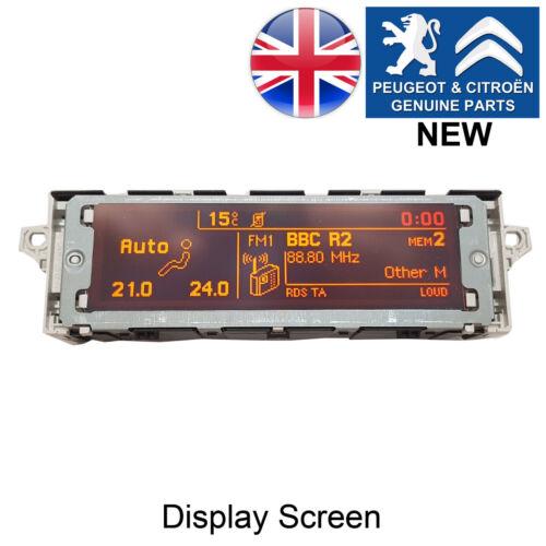 Peugeot 407 Partner 308 display screen radio LCD Multi function clock MFD NEW