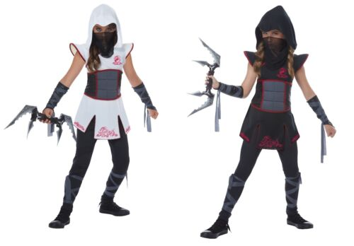 Child Fearless Ninja Warrior Costume Black or White