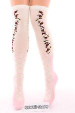 So-37 Ballerina Schleife Erdbeere Lolita Socken Overknees Strümpfe Stockings