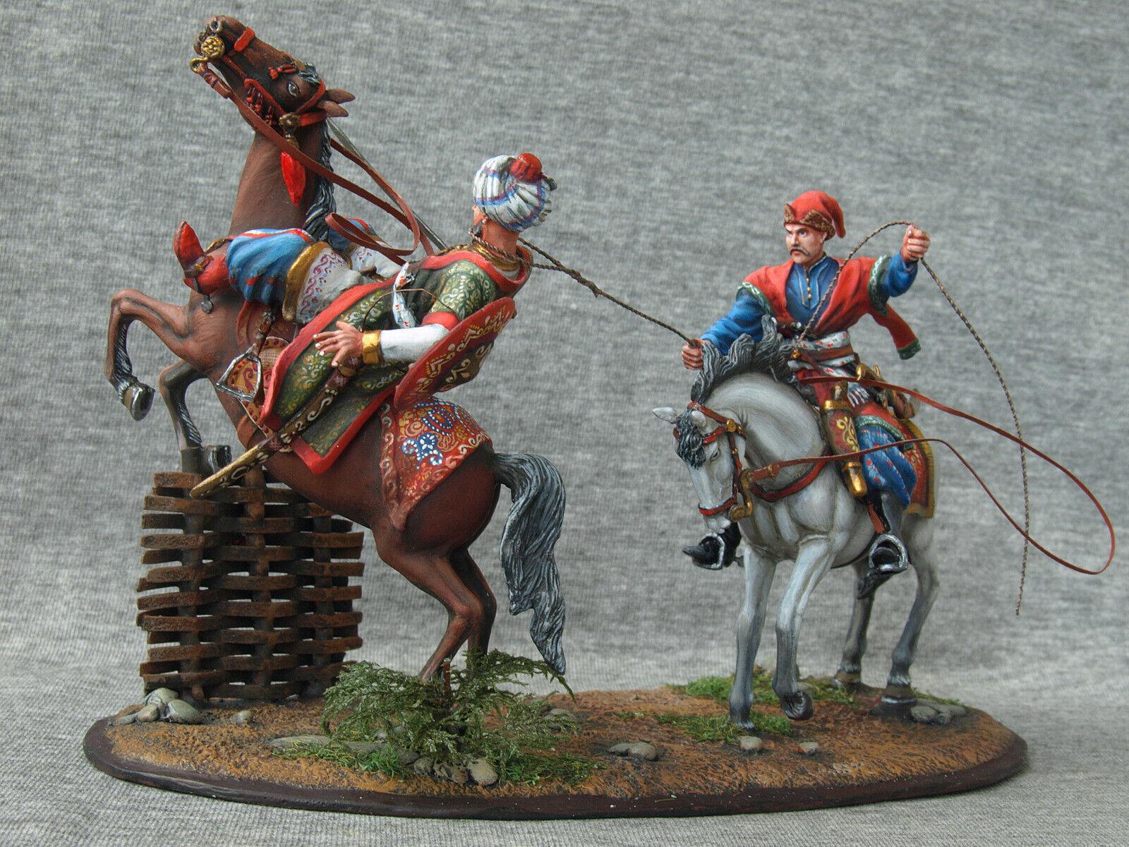 The Cossacks will captivate Turk. Elite tin soldiers St. Petersburg.  54mm.