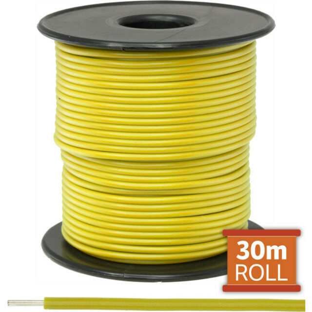 DOSS 30M YELLOW HOOKUP WIRE/ CABLE SOLD AS A ROLL OF 30M
