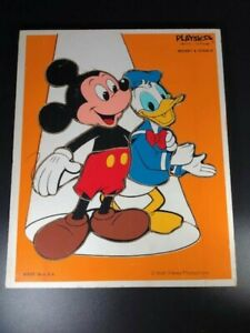Model number 190-13 Walt Disney Mickey Mouse and Donald Duck 10 Piece Puzzle Playskool Wooden Tray Puzzle