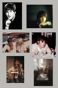 John-Lennon-1963-1969-6-rare-real-photographs-Beatles-candid-photo-set