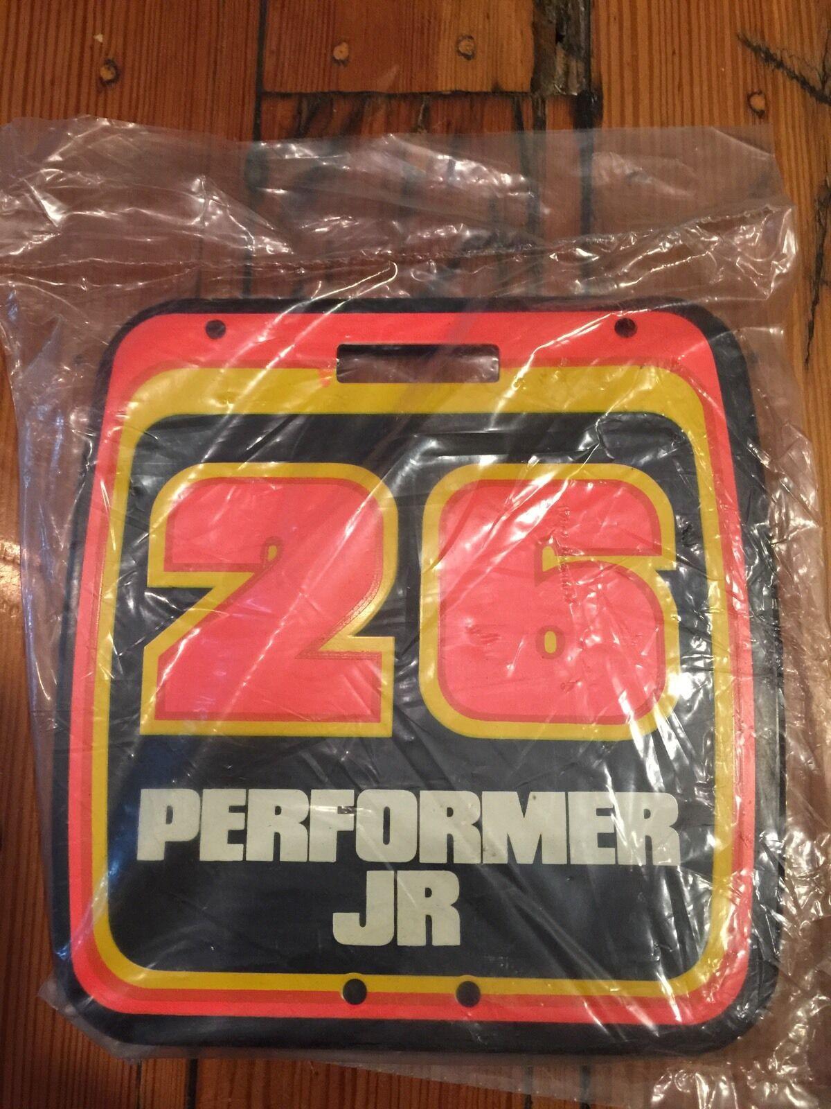 Vintage NOS Old School Performer JR  Number Plate - MX-BMX-