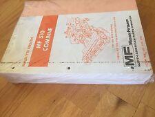 Massey Ferguson Tractor Parts Book Catalog Manual Combine Mf 510 Hugh