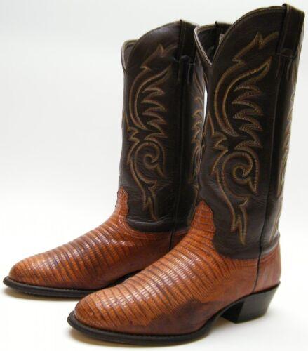 reale Mens D cowboy 5 pelle Langstons 1 da western marrone ~ Vera lucertola di 7 Stivali Sz 2 ArnrTXOzx