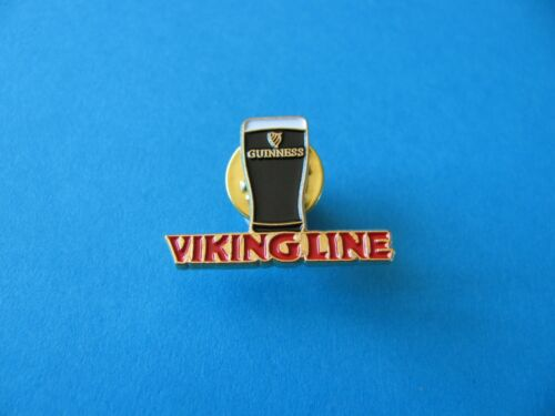 "Guinness /"" Viking Line /"" Cruise Ship Pint Pin badge Gold Coloured Back Ground."