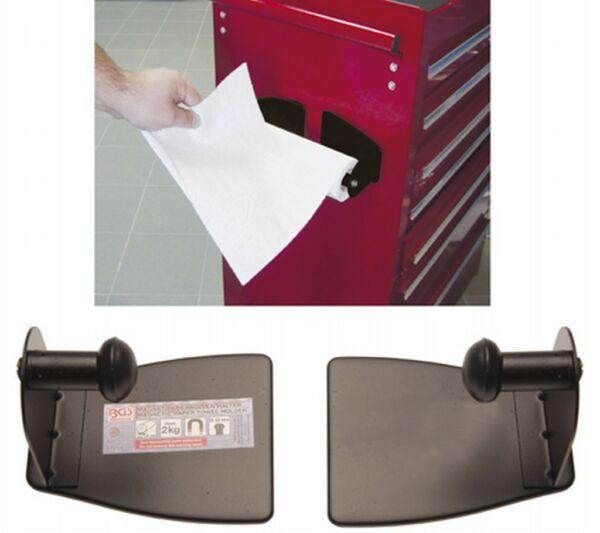 Bgs 67159 Magnet Papierrollen Halter 2 Teilig Für Werkstattwagen Werkzeugwagen Minder Duur