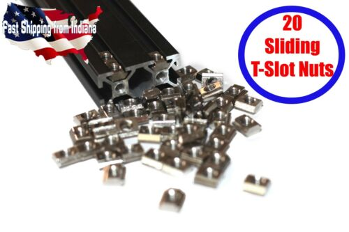 20pcs M5 Heavy Duty Sliding T-Slot Nut for 2020 20 Series Aluminum Extrusion