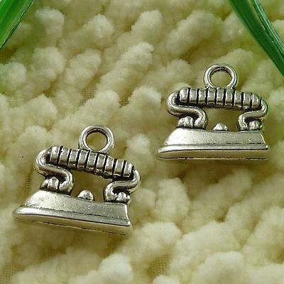 Free Ship 25 pieces tibetan silver flatiron charms 18x17mm #2433
