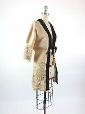 Antique Dress Coat Victorian Haute Couture French Maison LaFerriere Hand Made