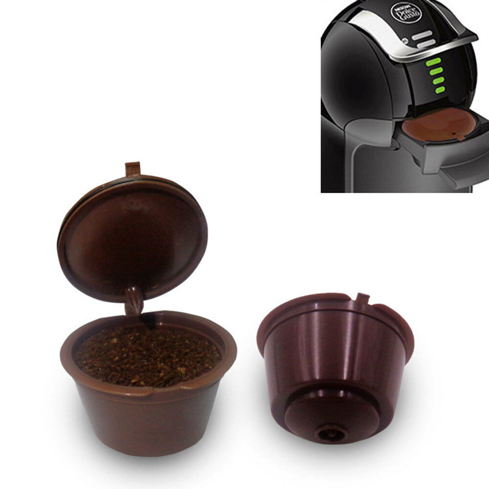 reusable coffee capsules cup filter dolce gusto refillable brewers nescafe sg ebay. Black Bedroom Furniture Sets. Home Design Ideas