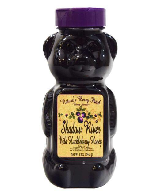 Shadow River Wild Huckleberry Gourmet Honey 12 oz Squeeze Bear