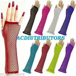Long-Fishnet-Gloves-Fingerless-Elbow-Length-Fancy-Dress-80s-Costume-Party