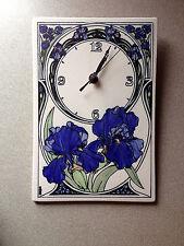 Santa Barbara Ceramic Design Clock with Blue Iris