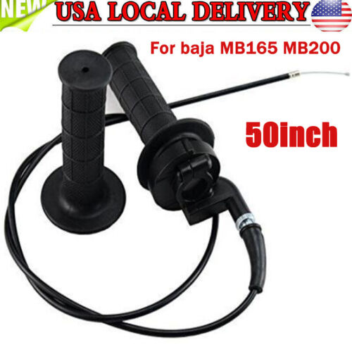 50/' Cable For Baja Warrior MB165 MB2005 6.5HP 196cc Mini Dirt Throttle Grips
