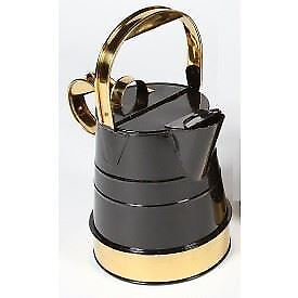 nero And Bright Chrome  Shaftsbury  Narrowboat Watering Can - 1 Gallon
