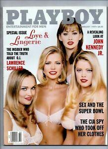 Playboy Magazine February 1997 Love & Lingerie, John Kennedy Jr. O.J
