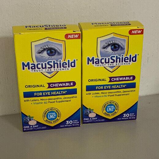 MacuShield Original Chewable 60 Capsules Food Supplement Eye Vitamins NEW