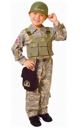 Navy Seal Deluxe Costume Army Special Forces Dress For Kids By Dress up America