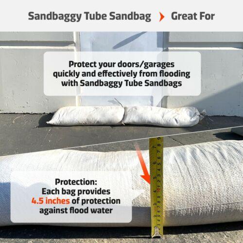 Sandbag Sand Bags Bag Poly ~ FOR FLOOD CONTROL Sandbaggy Tube Empty Sandbags