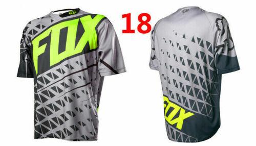 FOX Men Riding Jersey Short Sleeve T-shirts Motocross//MX//ATV//BMX//MTB Dirt Bike