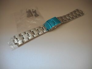 22mm Curved End Solid Stainless Steel Watch Oyster bracelet, Band SKX007K2