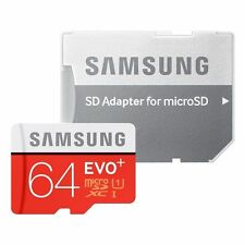 SAMSUNG 64GB MICRO SD MEMORY CARD EVO CLASS 10 evo plus+with adaptor&10 Yr Wrnty