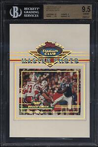 1993-Stadium-Club-5x7-Master-Photo-Bruce-Smith-Gem-Mint-BGS-9-5-Buffalo-Bills
