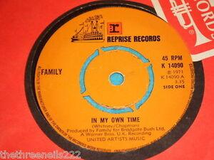 Vinyl 7 Single Family In My Own Time K 14090 Ebay