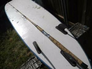 VINTAGE REFLEXE 7 FT CUSTOM RE-WRAPPED SPINNING ROD-PRE SABRE, CALIF. TACKLE CO.