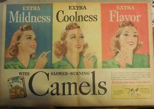 Camel Cigarrillo Anuncio: Bonito Niña, Suavidad, Sabor Completo Página Tamaño!