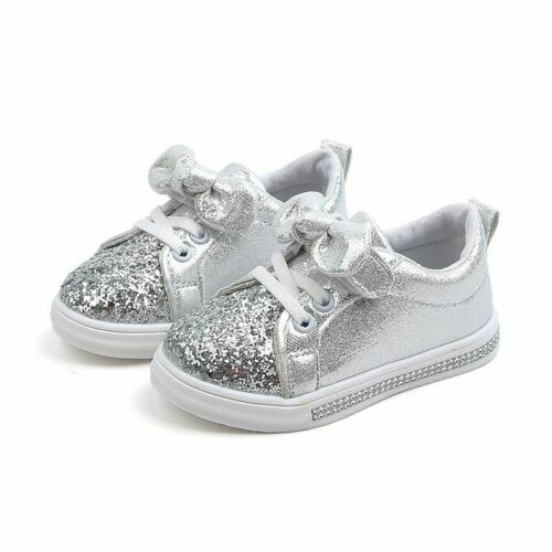 Girls Soft Sneakers Toddler Casual Shoes Cute Glitter