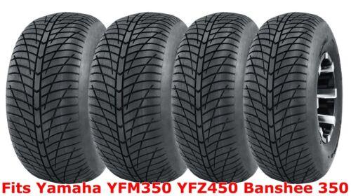 Set 4 21x7-10 /& 20x10-9 Yamaha YFM350 YFZ450 Banshee 350 Hi-speed ATV tires