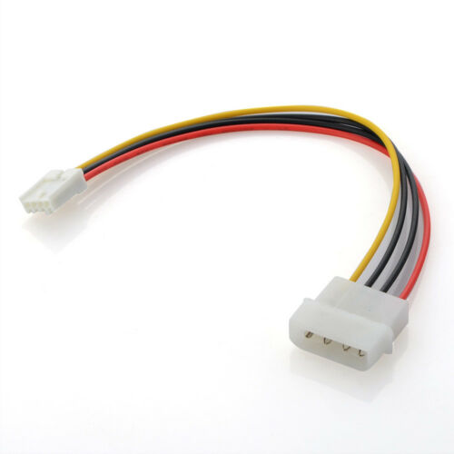 2Pcs 4-Pin Male Molex to Floppy Drive 4-Pin Power Supply Adapter Cable Cord