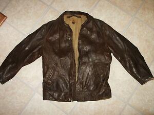Sheepskin leather jacket ebay