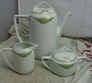 feines rosenthal porzellan kaffeekanne zuckerdose milchk nnchen im jugendstil ebay