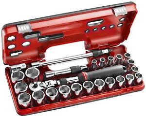 Facom-25pc-1-2in-Drive-10-32mm-Socket-Set-with-Extendable-Ratchet-SXL-DBOX3