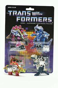 Transformers G1 Decepticon Microcassette Transparent Slugfest Re-issue NO BOX