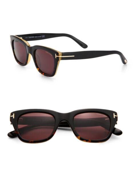 a15c8d8210b1c New Tom Ford Snowdon Sunglasses TF 237 05J Black Havana w Dark Brown 50-