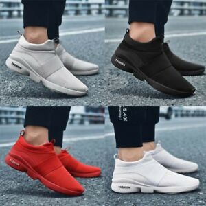 Mens-Teens-Pumps-Mesh-Trainers-Slip-On-Sneakers-Breathable-Shoes-Sizes-UK